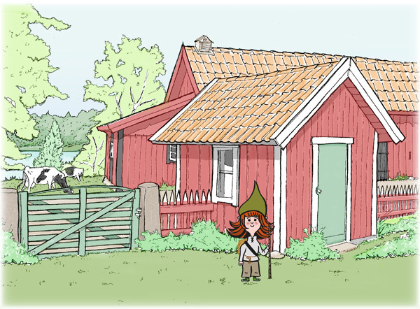 Illustration Röda gården på Öna